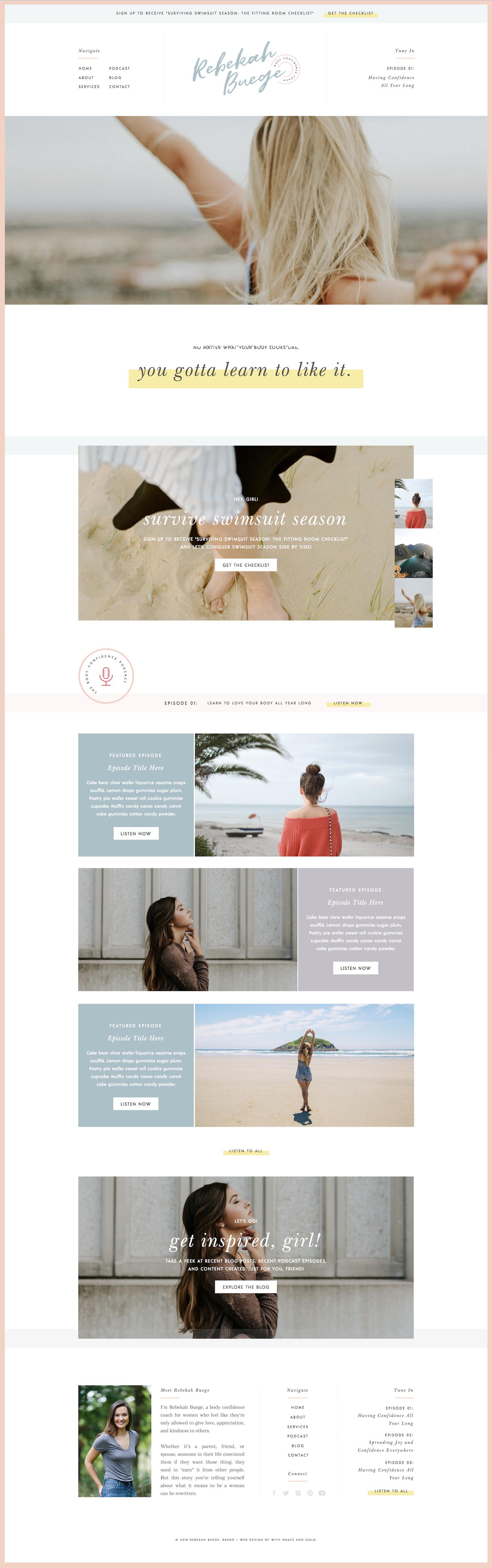 Logo Design And Web Design For Rebekah Buege With Grace And Gold Branding Web Design And Education Simple Website Design Web Design Marketing Web Design