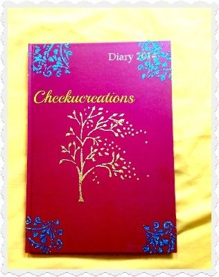 Personalised glittered Notebook