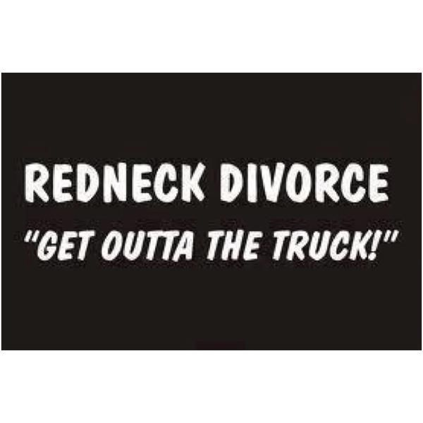 Hillbilly divorce joke
