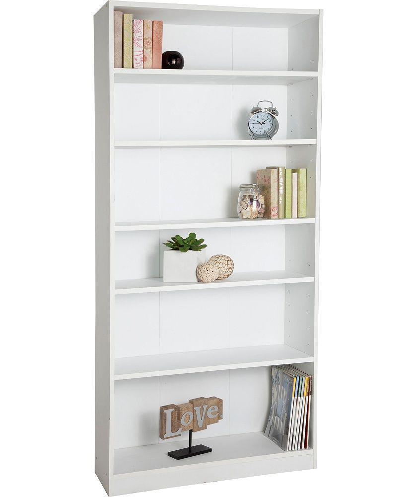 Buy Argos Home Maine 5 Shelf Tall Wide Deep Bookcase White Bookcases And Shelving Argos Deep Bookcase Shelves Bookcase