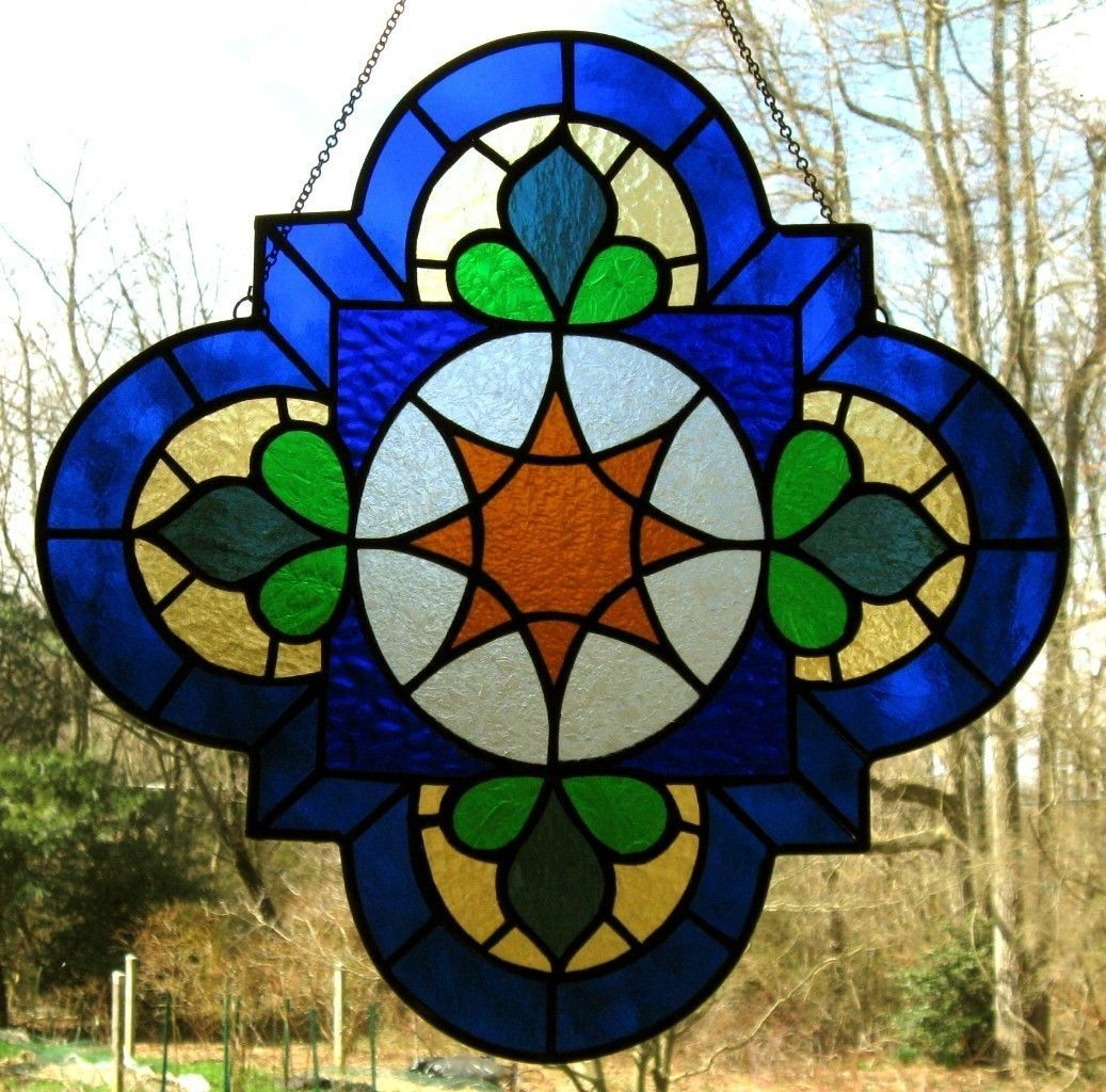 Details about Stained Glass Window Panel Birds Suncatcher ...