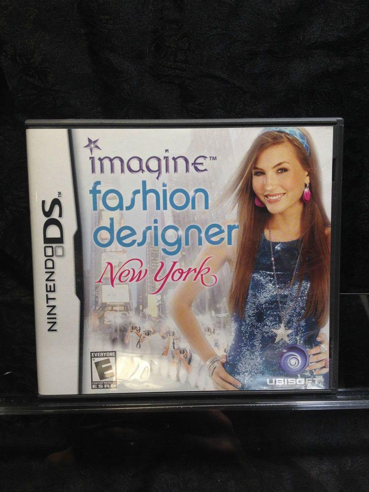 Imagine Fashion Designer New York For Nintendo Ds Also 3ds Xl Dsi Ds Lite Nintendo Ds Ds Games Fashion Designer New York