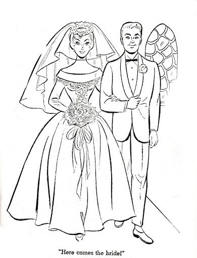 Once Upon A Wedding Day Paper Dolls Vintage Drawing Vintage Paper Dolls