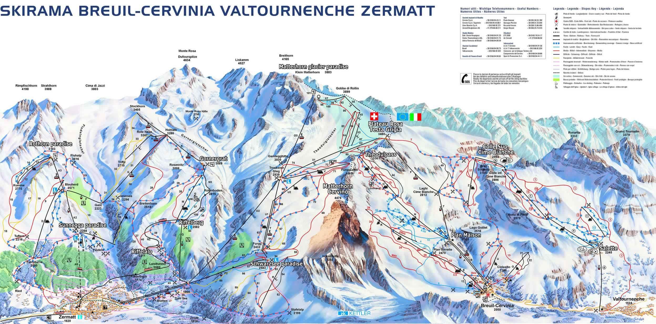 Skied this last week in brilliant sunshine The Matterhorn is HUGE