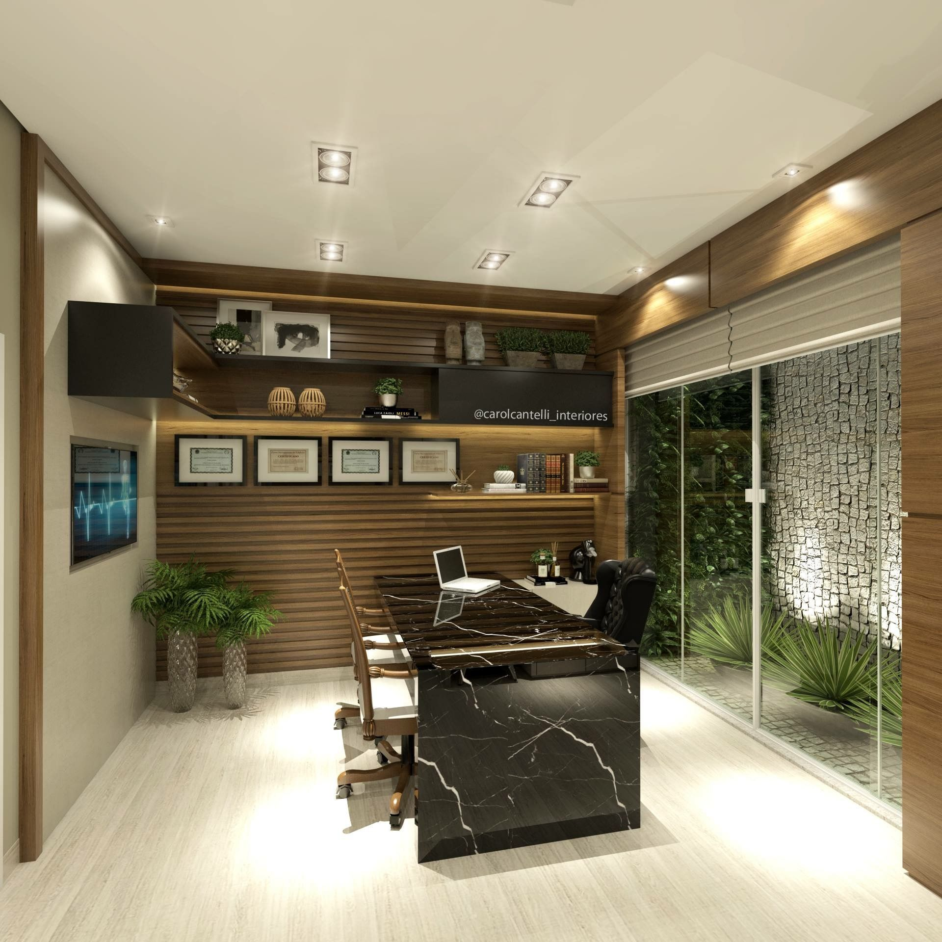 An Office With Chic And Style Is Great To Design Interior