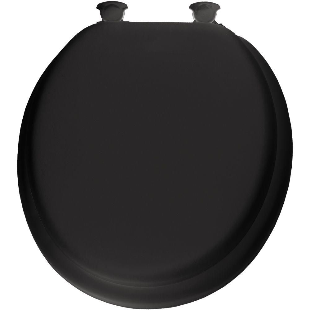 Awe Inspiring Lift Off Soft Round Closed Front Toilet Seat In Black Pdpeps Interior Chair Design Pdpepsorg