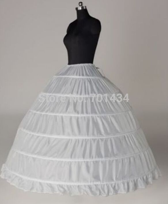 Click To Buy Free Shipping In Stock 6 Loop Petticoat Crinoline Underskirt Bride DressesThe