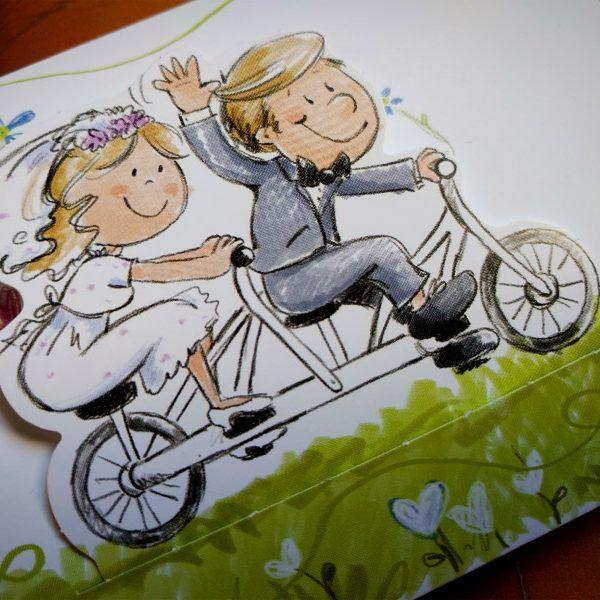 Partecipazioni Matrimonio Bicicletta.Partecipazioni Sposi In Bicicletta Partecipazioni Di Nozze