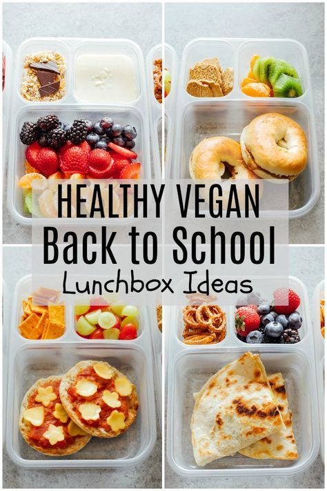 Healthy Vegan Back to School Lunchbox Ideas images