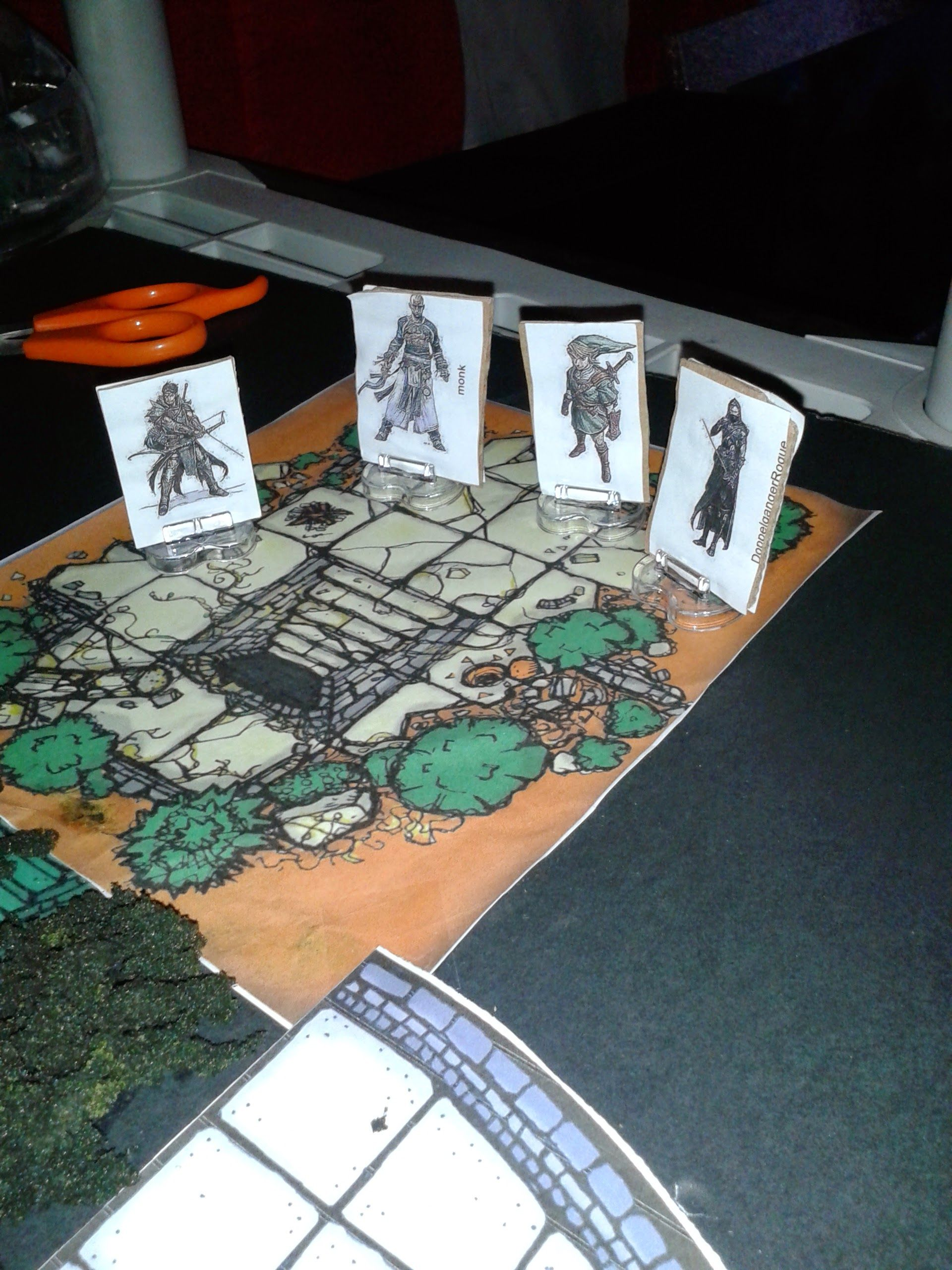 characters about to enter dungeon