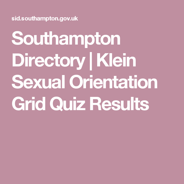 Klein sexual orientation grid results