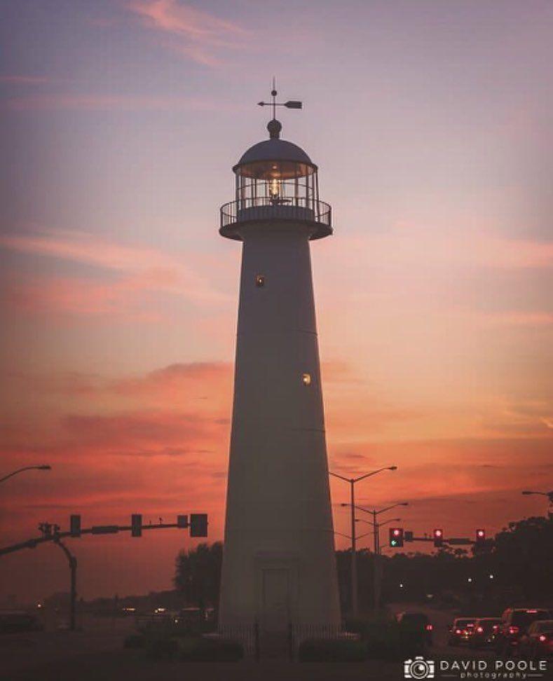 A Gorgeous Biloxi Lighthouse Sunset On The Mississippi Gulf Coast