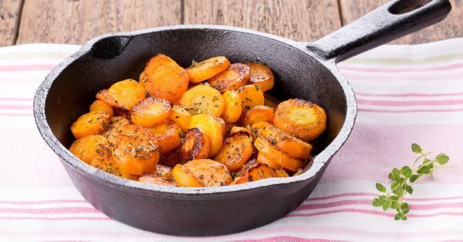 Poêlée de carottes light en sauce crémeuse