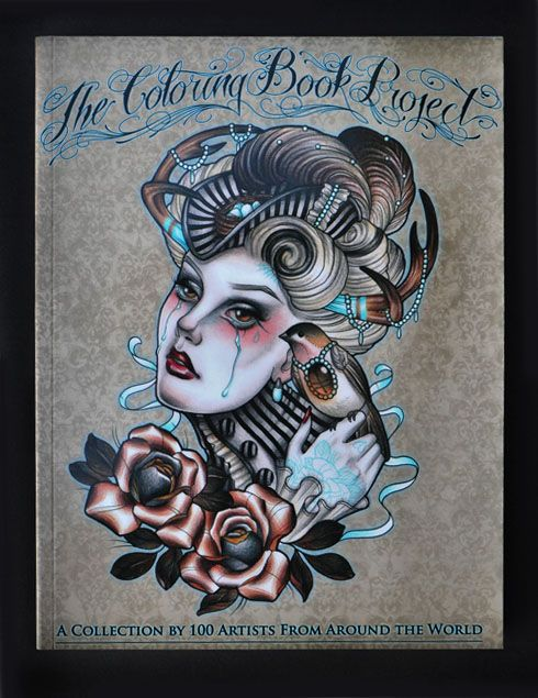 The Coloring Book Project Tattoos Coloring Books Tattoo Coloring Book Book Projects