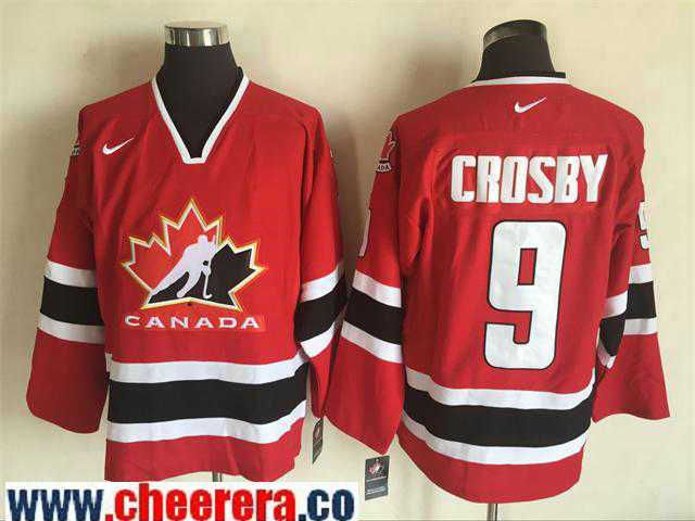 best website 8c2fd 81807 Men's 2002 Team Canada #9 Sidney Crosby Red Nike Olympic ...