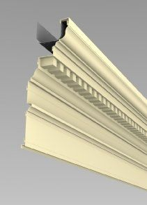 Extruded Aluminum Cornices Perimeter Systems Cornice Extruded Aluminum Wood Molding