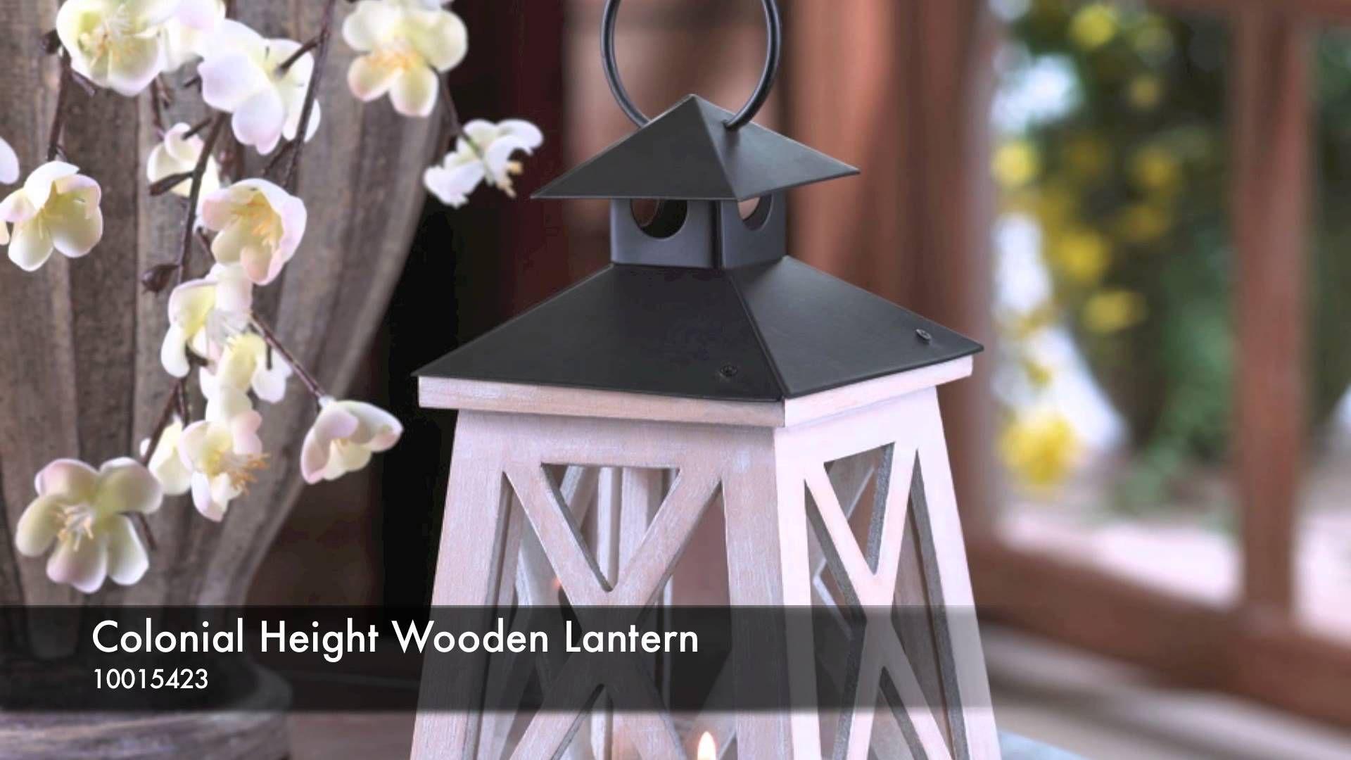Colonial Height Wooden Lantern - 10015423 WWW.HARTSHOMEDECOR.COM ...