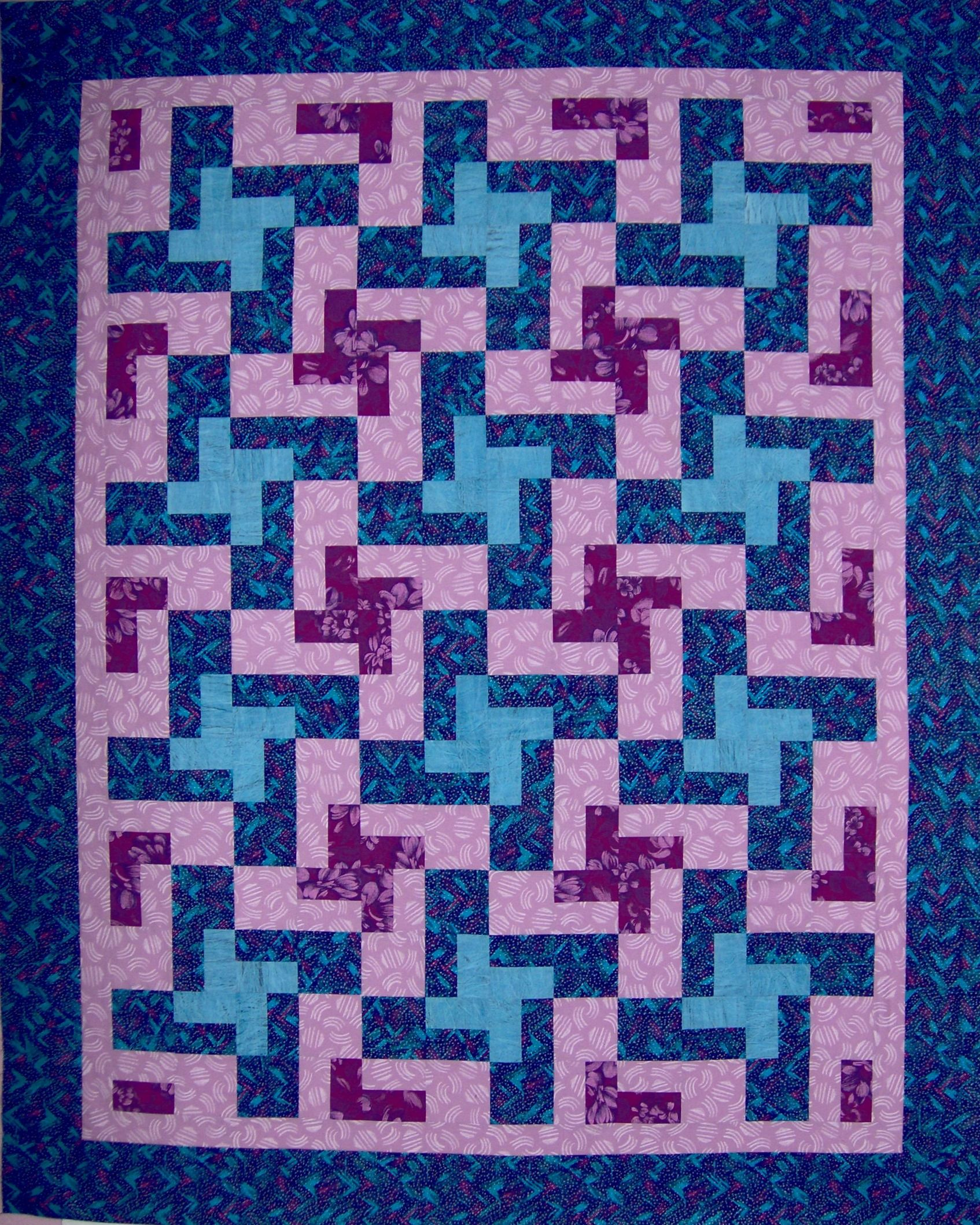 Tessellating Pinwheels, a free quilt pattern from Gayle Bong ... : tessellation quilt blocks - Adamdwight.com