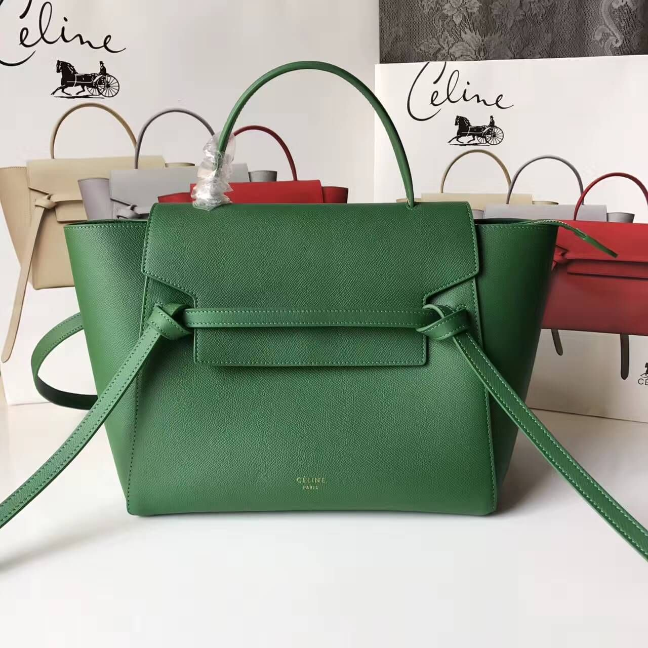Celine Mini Belt Handbag 100% Authentic 80% Off  8b1cc130ed15d