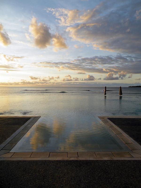 Infinity pool... Intercontinental Hotel in Fiji
