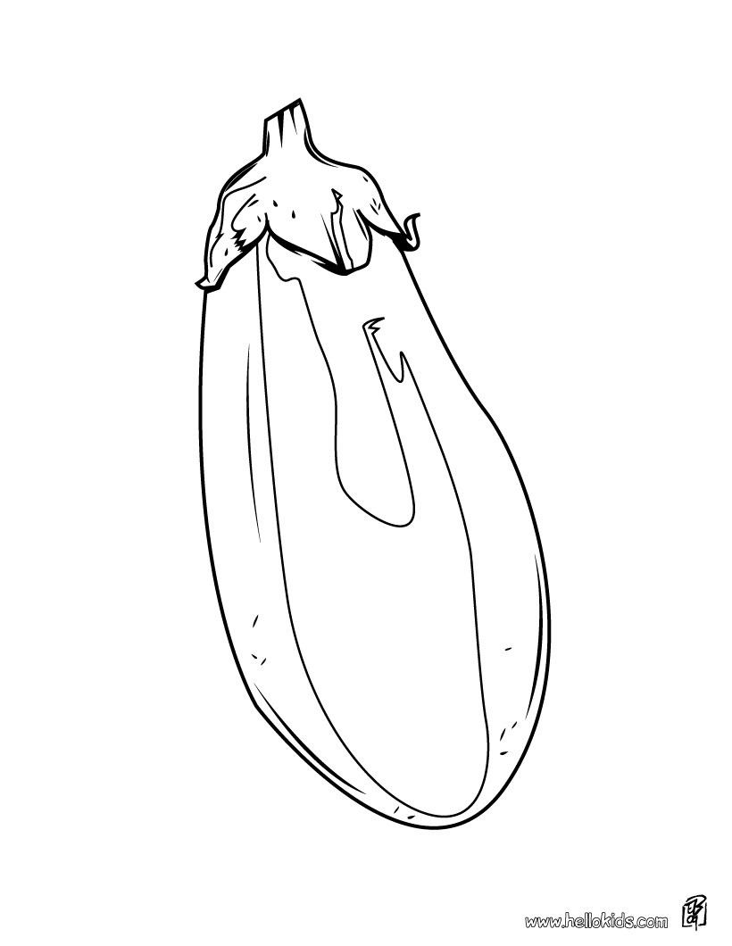 Aubergine Coloring Page Perfect Coloring Sheet For Kids More
