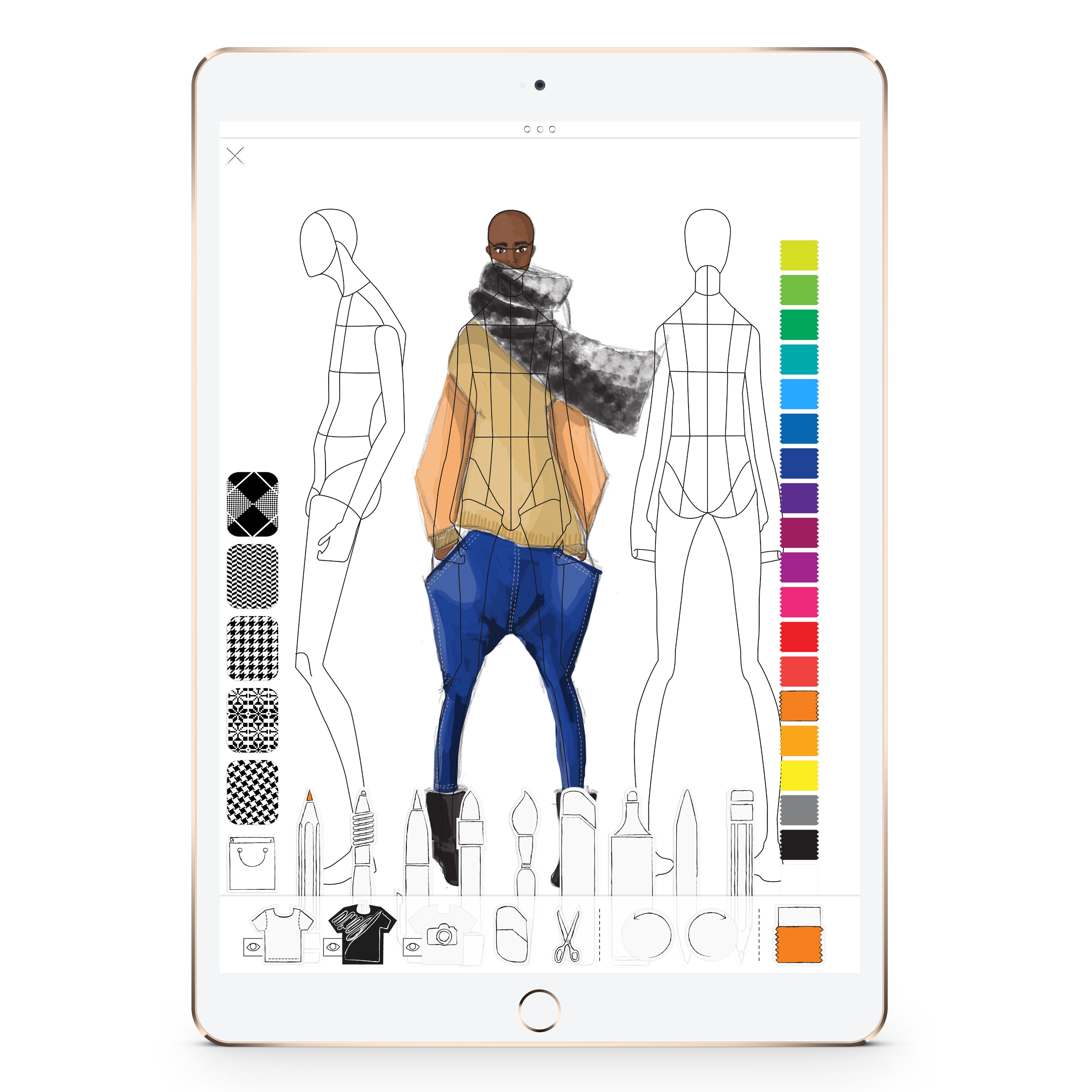 Pret A Template App Fashion Design App For Iphone And Ipad A New Way Of Thinking Fashion Sketchbook Tool Design Sketch Book Fashion Sketchbook