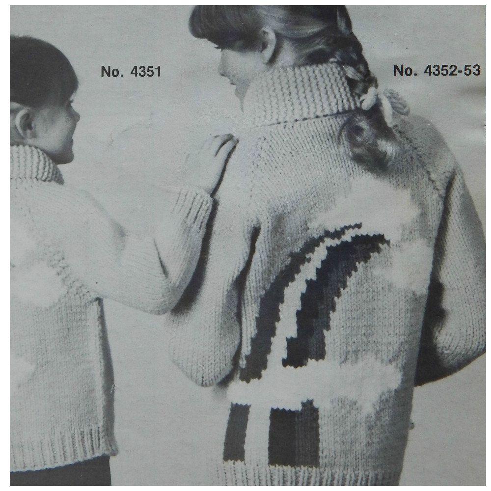 Mary Maxim Rainbow Sweater Knitting Pattern Shawl Collar, Zipper ...
