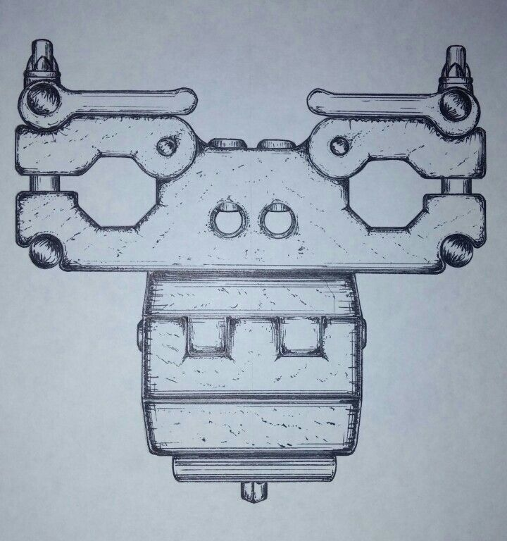 """Double Rack Clamp w/ 3/8"""" adapter"""