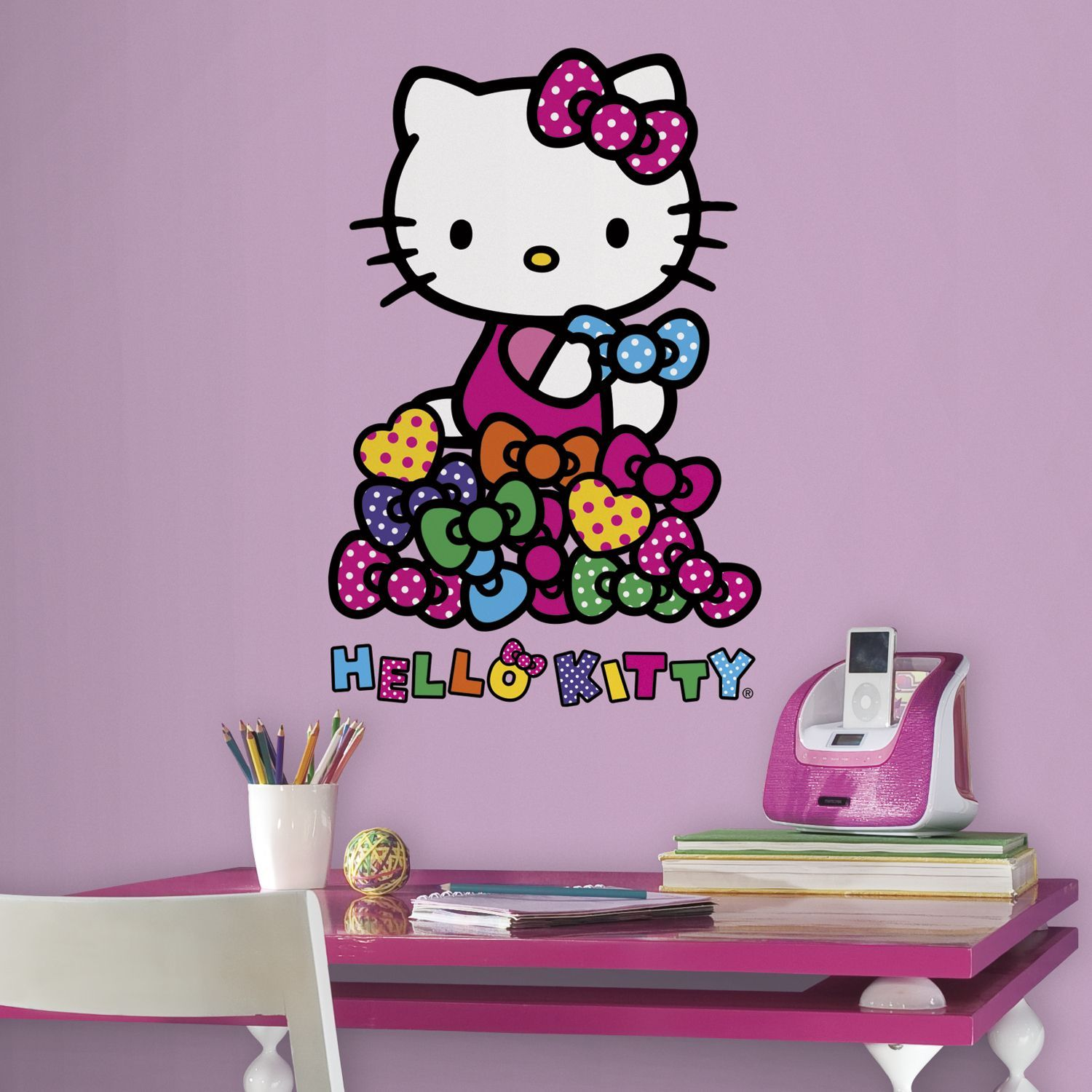 Roommates Hello Kitty Bows Peel And Stick Wall Decal Vinyl