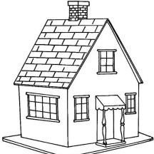 Little House In Houses Coloring Page Riscos Para Pintura