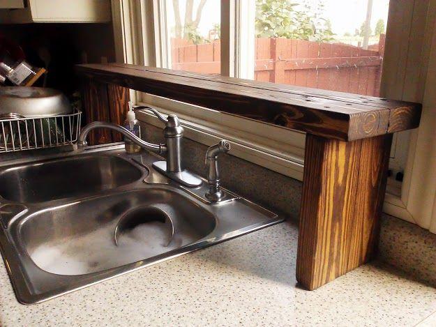 Over The Sink Shelf From Pallet Wood, Diy, Kitchen Design, Pallet, Shelving