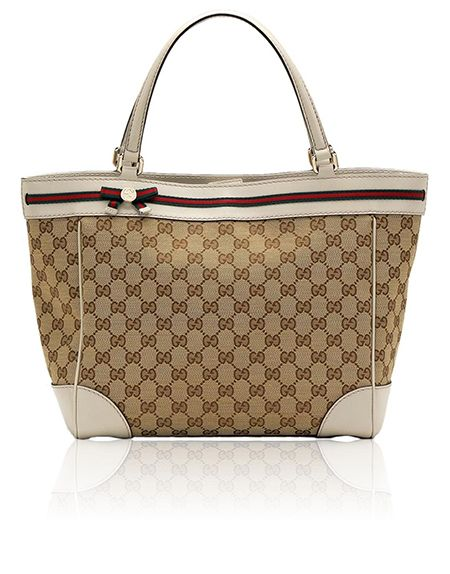 5f7ae9946efd Gucci Mayfair Original GG Fabric Bow Detail Tote | Sandals , Flats ...