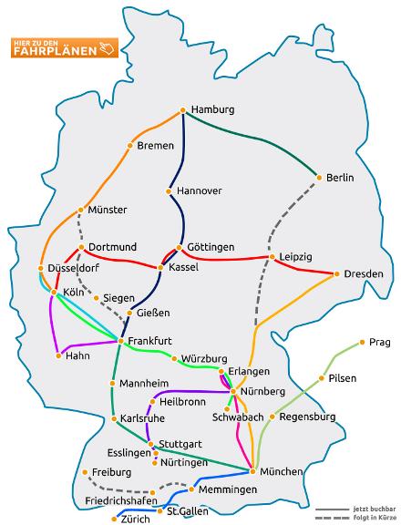 Carte Flixbus Europe.Flixbus Since Deutsche Bahn S Monopoly On Long Distance