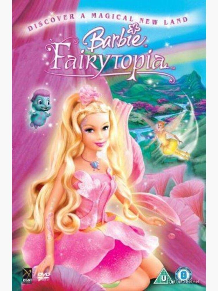 Barbie fairytopia movie dvd case sticker by bianeckaaa