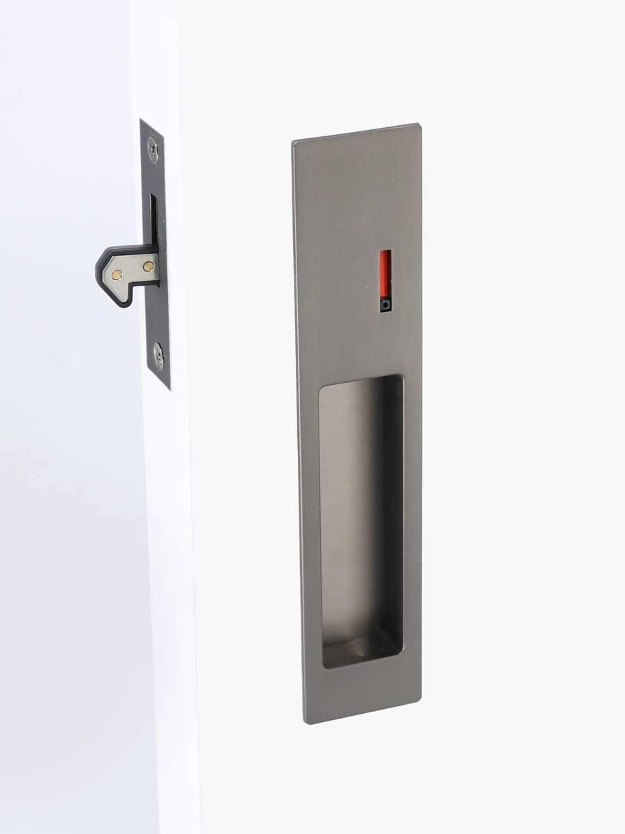 Matte Black Round Cavity Slider Lock For Locking Most Types Of Sliding Doors For Bathrooms And Toilets Pocket Doors Bathroom Bathroom Door Handles Pocket Doors