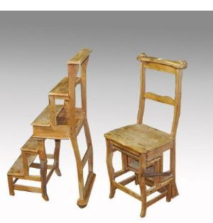 Chair / Library Step Ladder Late 19th Century From Northern France. Antique  Furniture Melbourne |