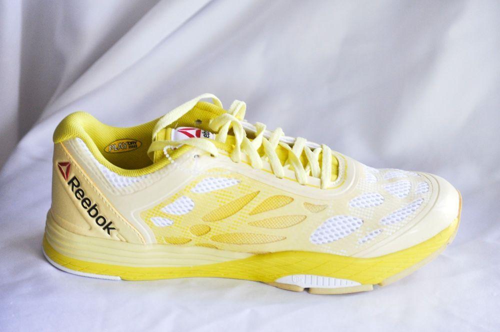5847d29b0d1278 Reebok Women Les Mills Cardio Ultra Dance Shoes White Yellow Filament size  8.5 B  Reebok  Dance