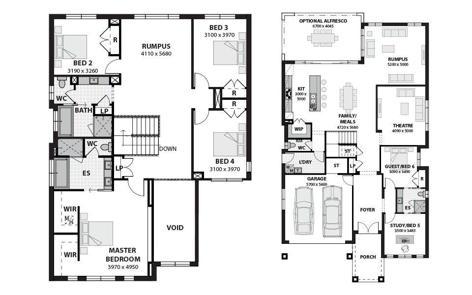 double story house plans 5 bedroomstoryhome plans ideas picture - Double Storey House Plans