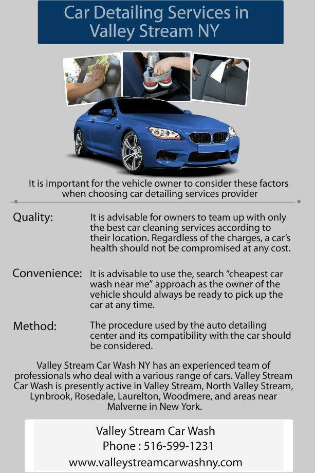 Car Detailing Cost >> Pin By Valley Stream Car Wash On Valley Stream Car Wash Car