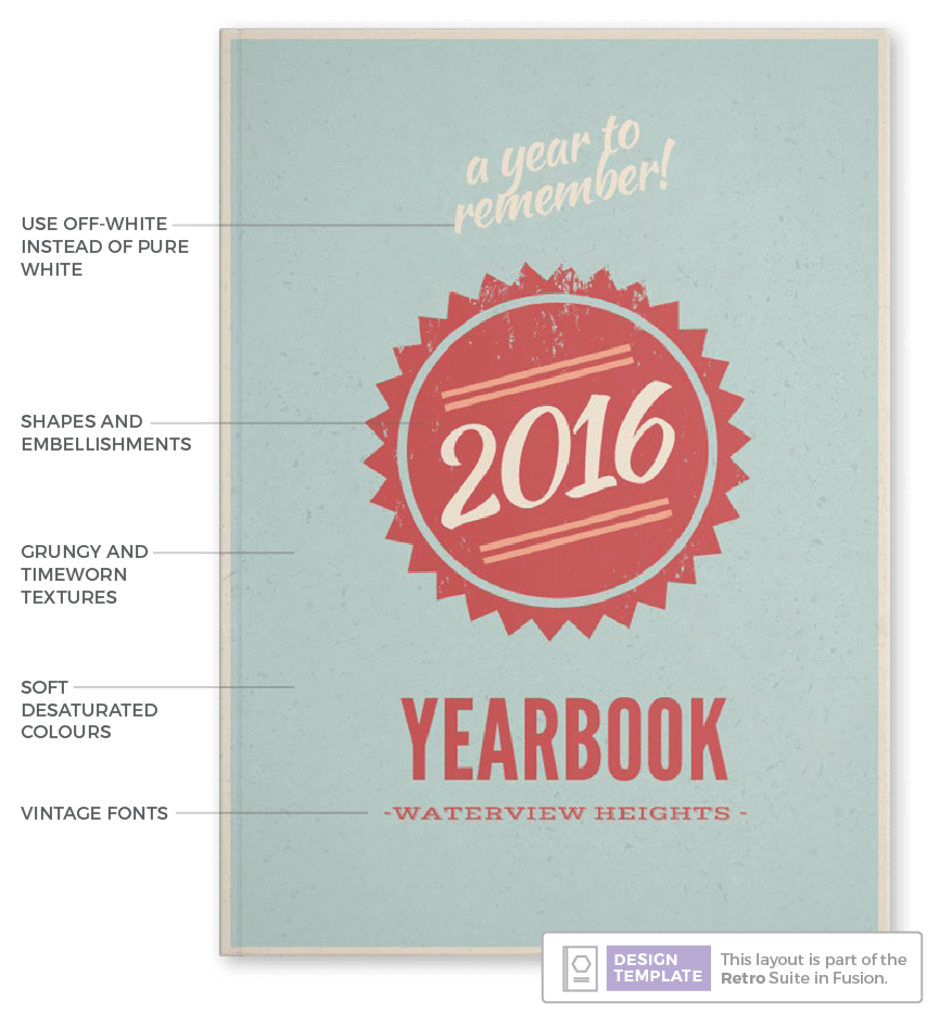 yearbook cover examples , retro vintage