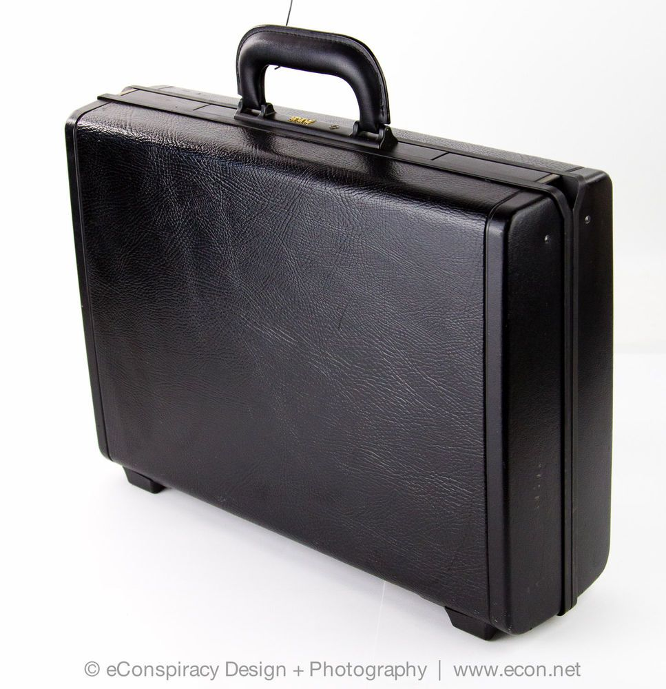 SAMSONITE QUANTUM EXECUTIVE Hard Black Business Attache ...