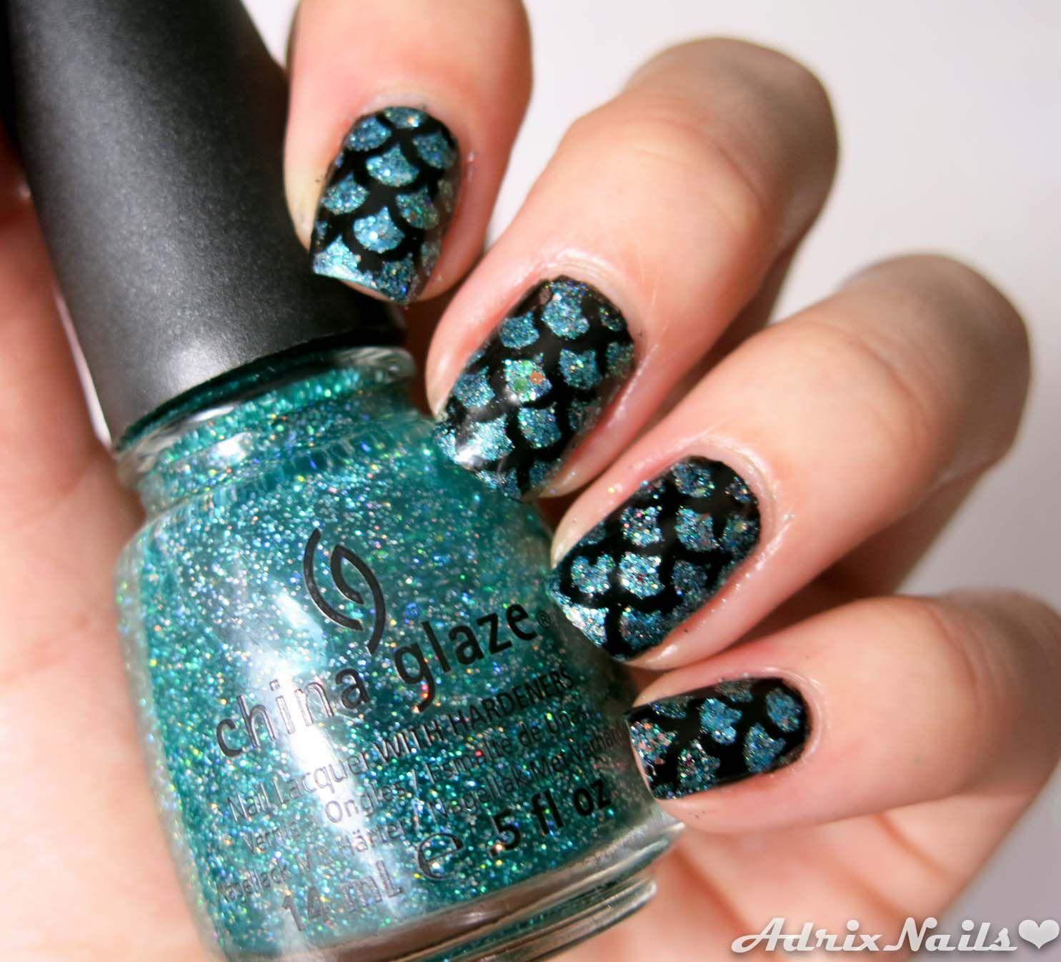 Tutorial - Uñas de sirena usando viniles- #nails #nailart ...