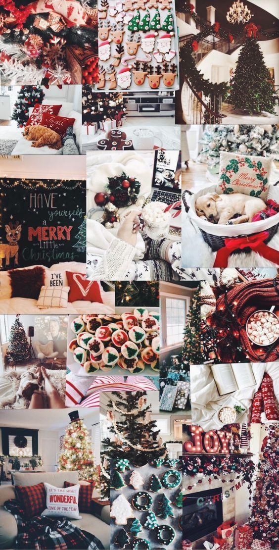 Aesthetic Christmas background Christmas wallpapers