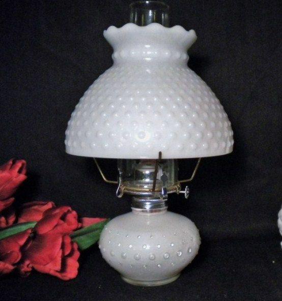 Vintage Milk Glass Oil Lamp Hurricane Lamp By Greenerworldvintage 25 00 Milk Glass Collection White Milk Glass Glass Hurricane Lamps