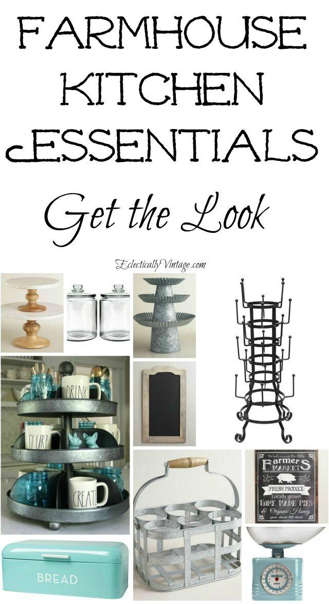 Farmhouse Kitchen Essentials | Kitchen Accessories, Metals And
