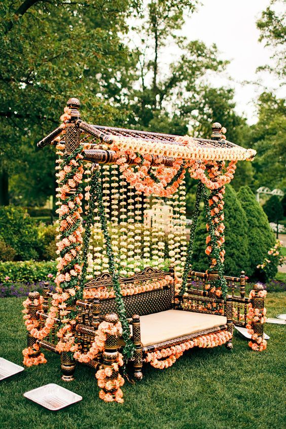 Simple and lively decoration ideas for haldi mehendi ceremony to simple and lively decoration ideas for haldi mehendi ceremony to make it more fun indian wedding stageoutdoor junglespirit Images