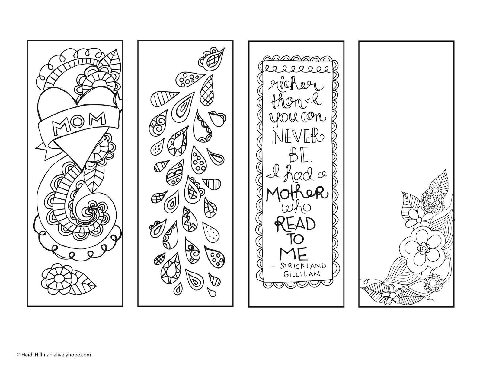 Mother S Day Printable Bookmarks