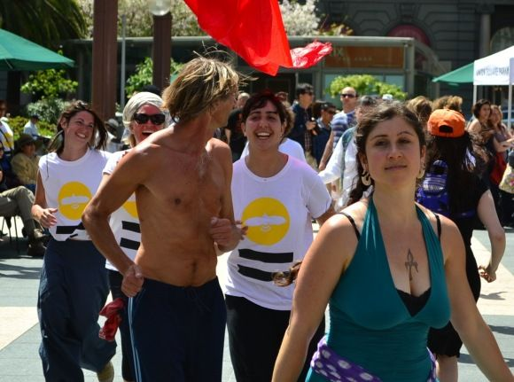 Planetary Dancers in Union Square, San Francisco