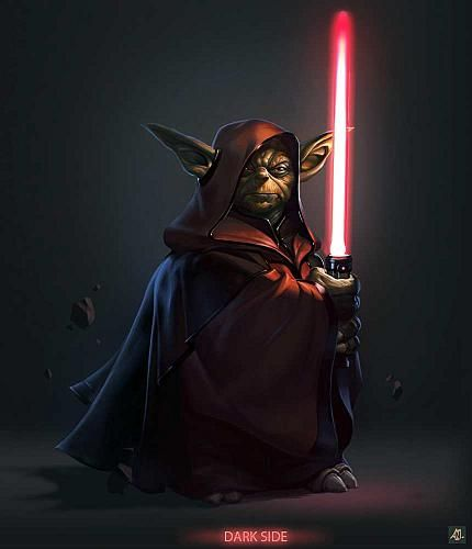 What if, at one point Yoda became a Sith? Just one time, he got so freaking mad...