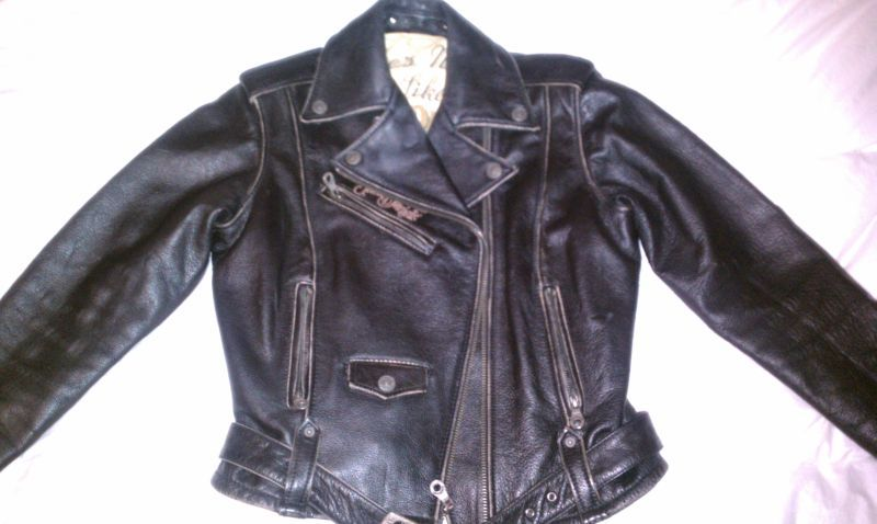 Womens Small Jack Daniels Burn Out Distress Leather Bomber Leather Bomber Jacket Leather Bomber Distressed Leather
